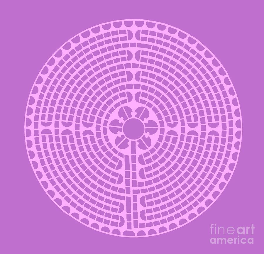 Lavender Labyrinth Drawing