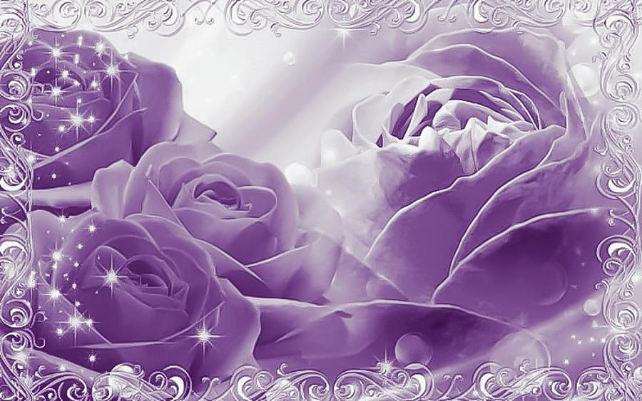 Lavender Rose Mixed Media