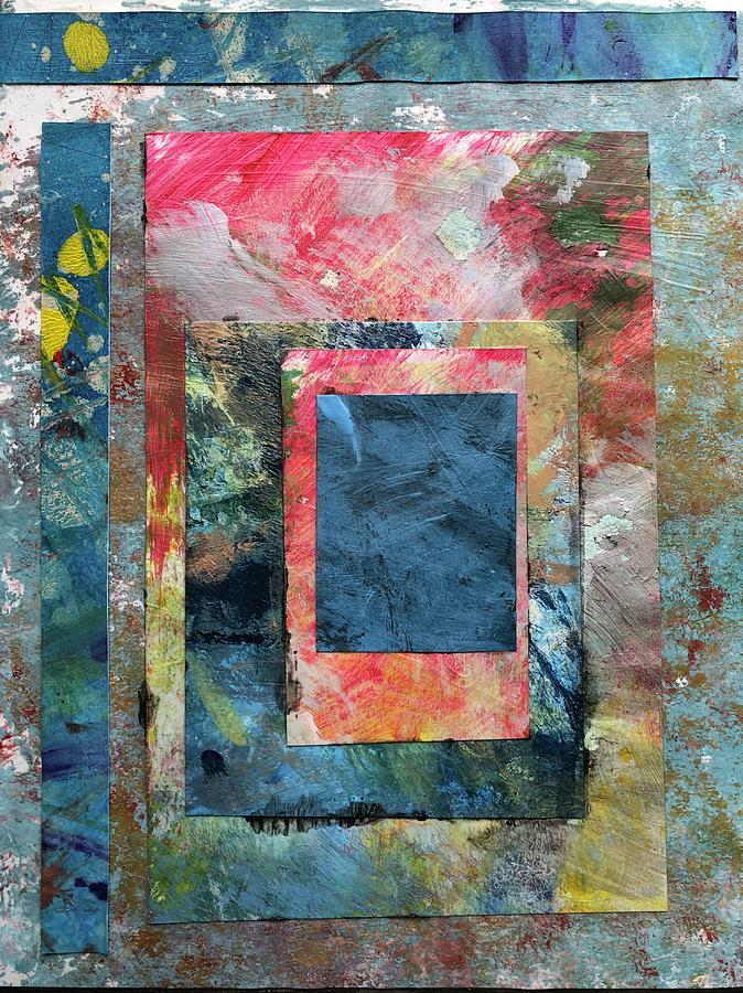 Layers Acrylic Collage by John Fish
