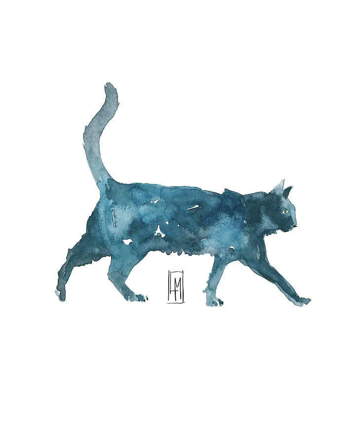 Le Chat Et Bue Painting