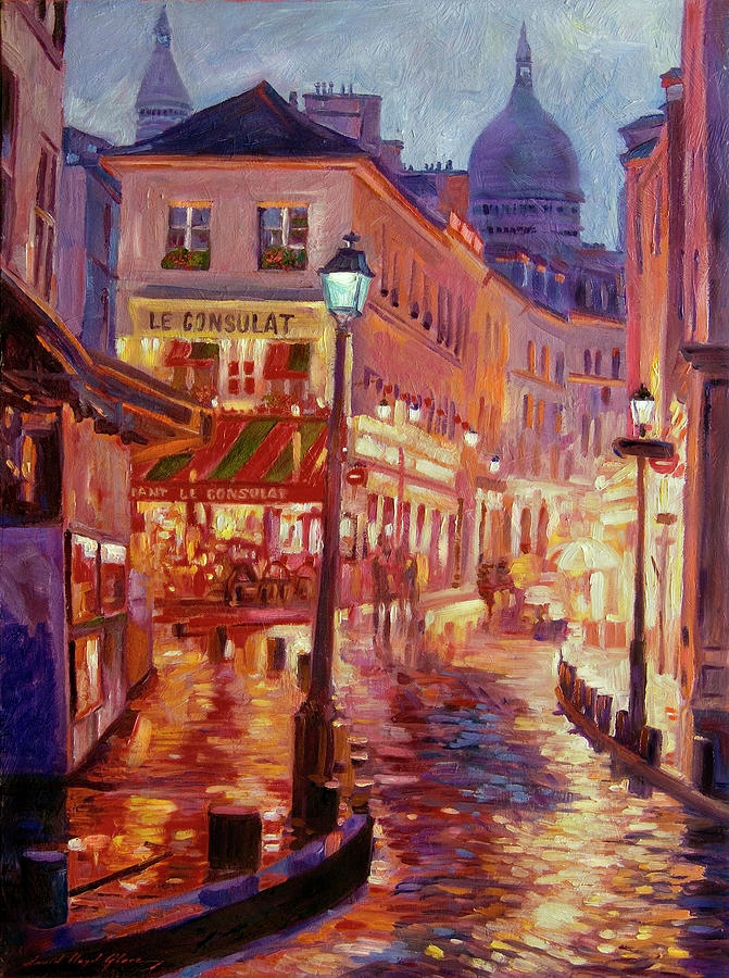 Le Consulate Montmartre Painting