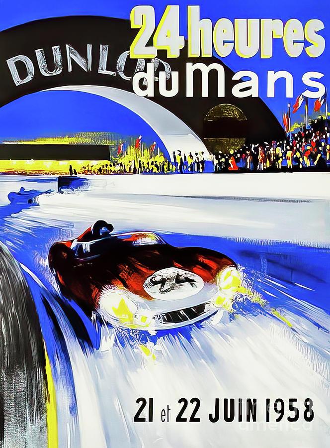 Le Mans 1958 Grand Prix Drawing