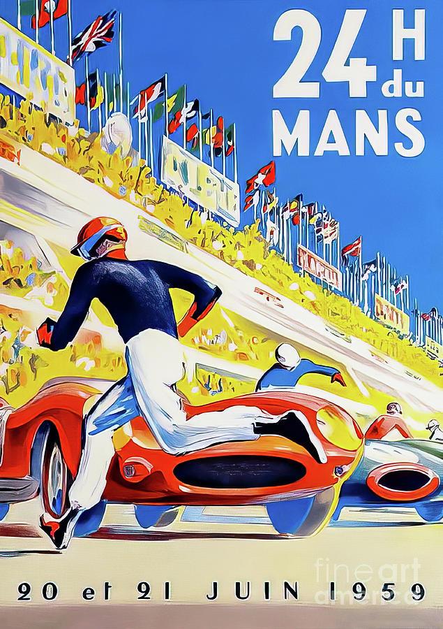 Le Mans 1959 Grand Prix Drawing