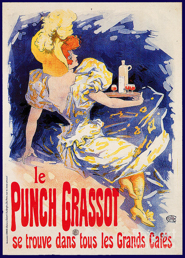 Le Punch Grassot Advertising Poster Painting