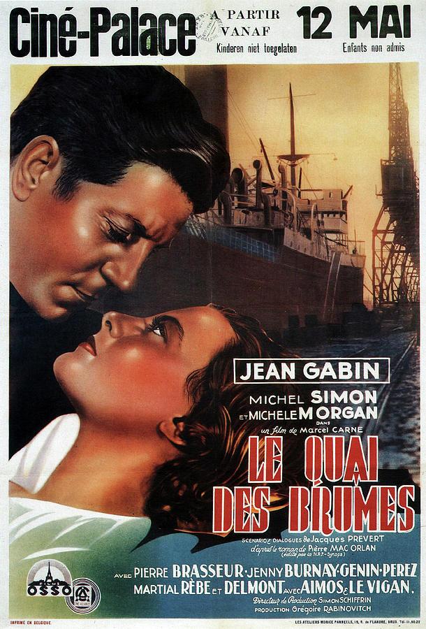 le Quai Des Brumes, With Jean Gabin And Michel Simon, 1938 Mixed Media