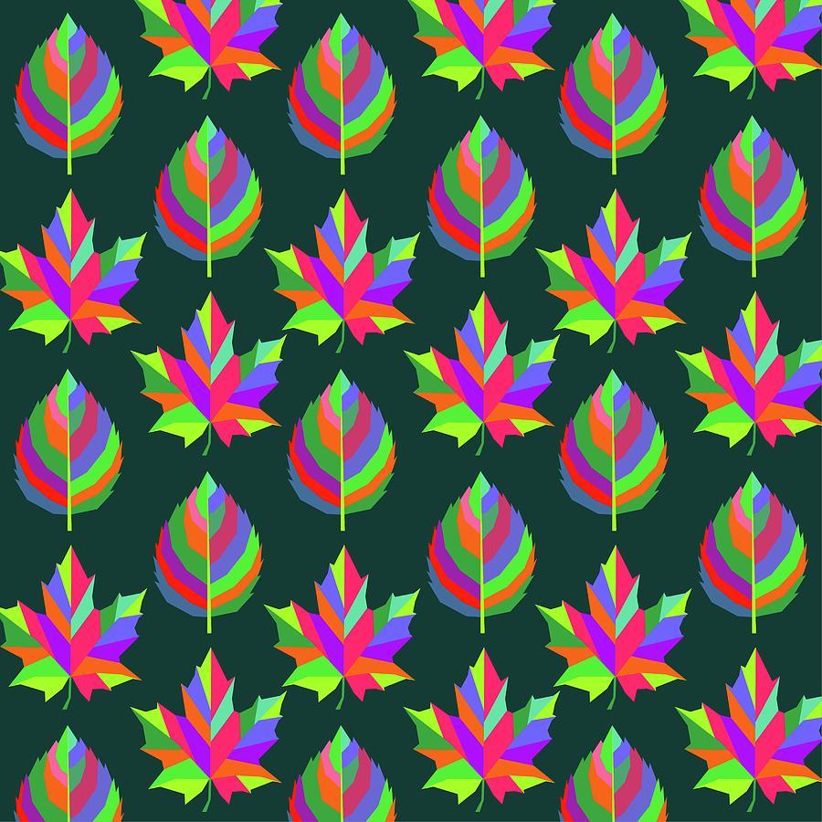 Leaf Pattern 6 Digital Art