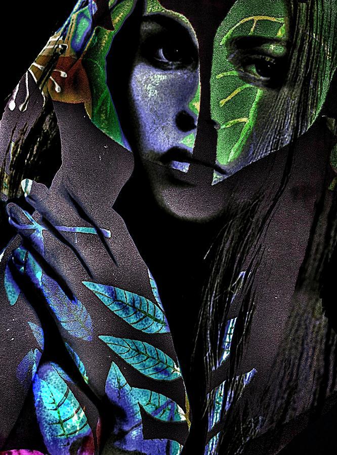 Surrealism Digital Art - Leafwoman by Gunilla Munro Gyllenspetz