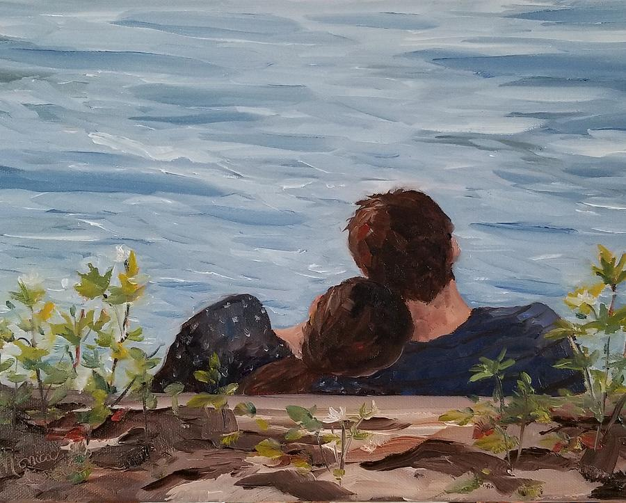 Portrait Painting - Lean On Me by Monica Ironside