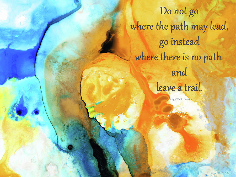 Hope Painting - Leave A Trail - Inspirational Art and Uplifting Quote - Sharon Cummings by Sharon Cummings