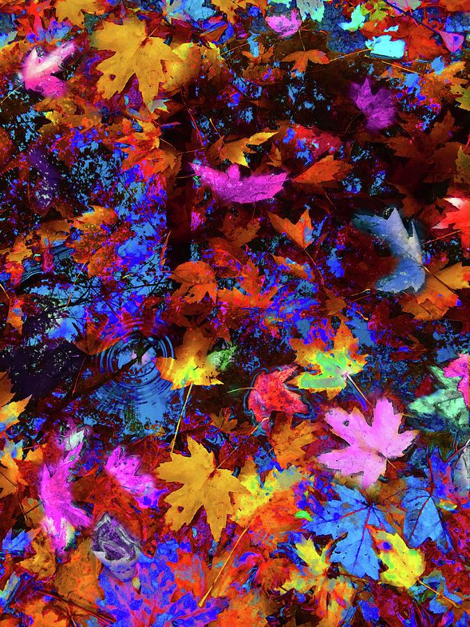 Leaves a la Warhol by Wayne King