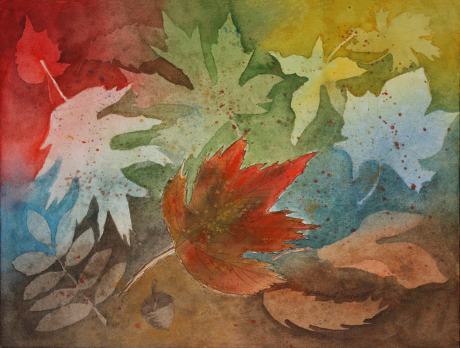 Leaves Painting - Leaves II by Patricia Novack