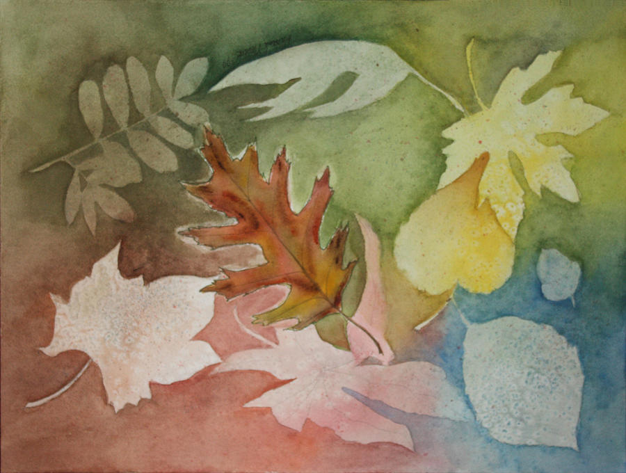 Leaves Painting - Leaves IV by Patricia Novack