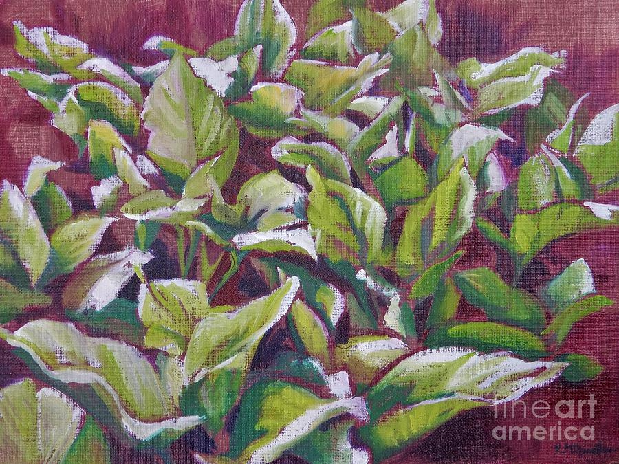 Spring Painting - Leaves of Green by K M Pawelec