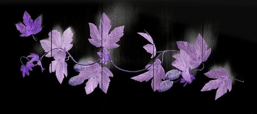 Leaves On Wood by Johanna Hurmerinta