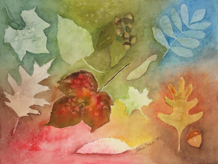 Leaves Painting - Leaves V by Patricia Novack