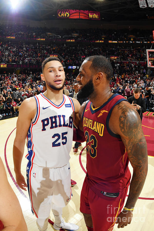 Lebron James and Ben Simmons Photograph by Jesse D. Garrabrant