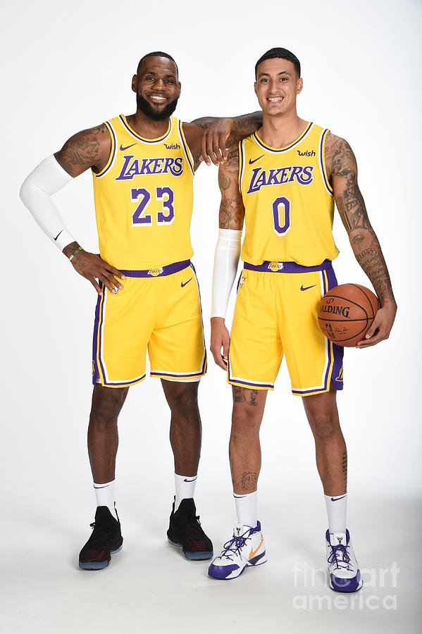Lebron James and Kyle Kuzma Photograph by Andrew D. Bernstein