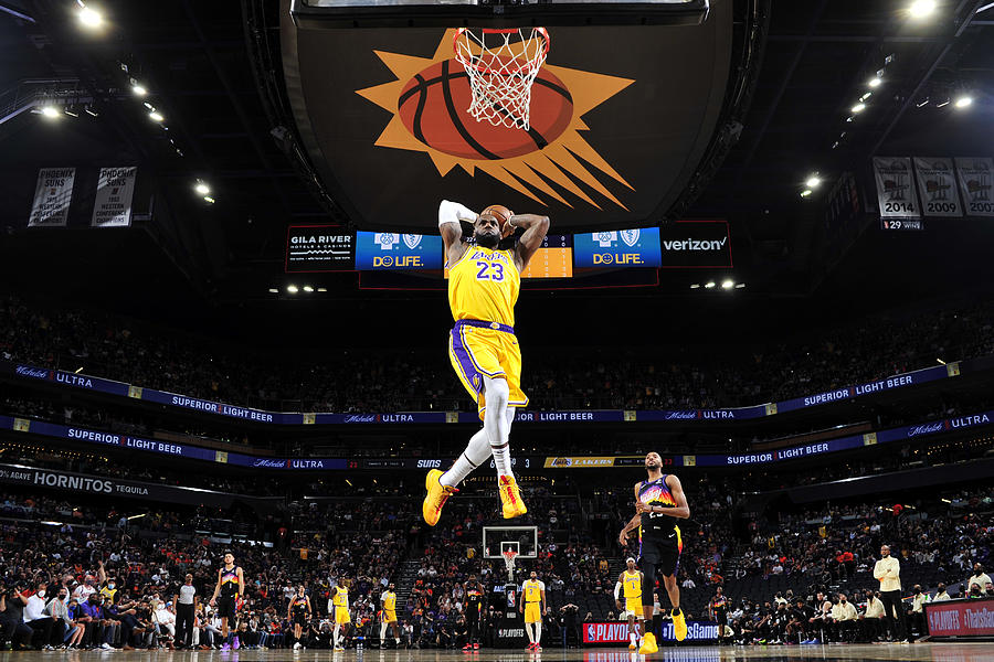 Lebron James Photograph by Barry Gossage