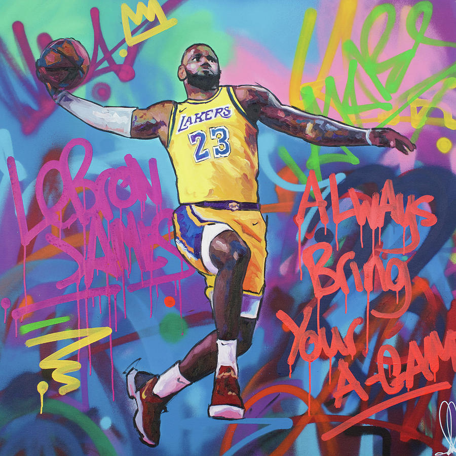 LeBron James II Painting by Richard Day