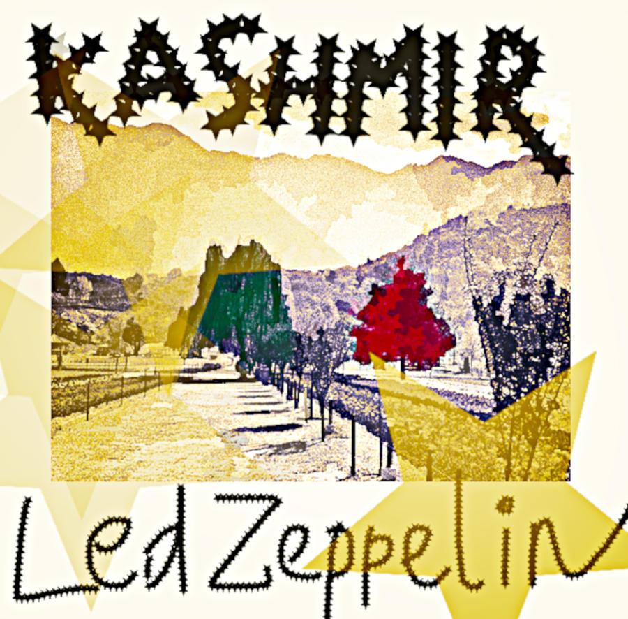 Led Zepp Kashmir 1975 by Enki Art