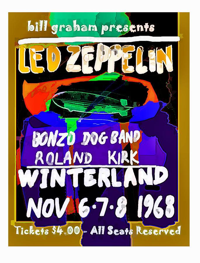 Led Zepp Live San Francisco 68 by Enki Art