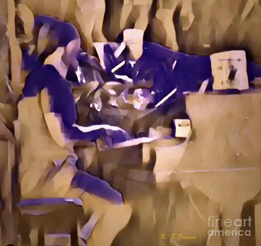 Music Digital Art - Lee Roy Brown On Beale by Karen Francis