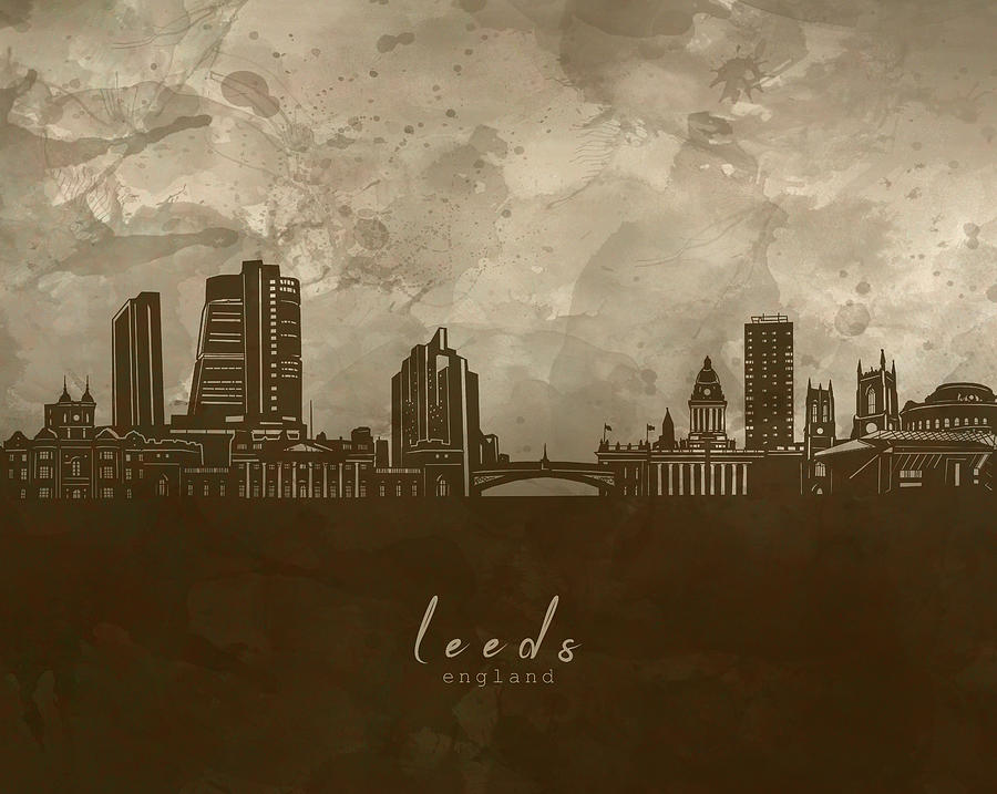 Leeds Skyline Panorama 4 Digital Art