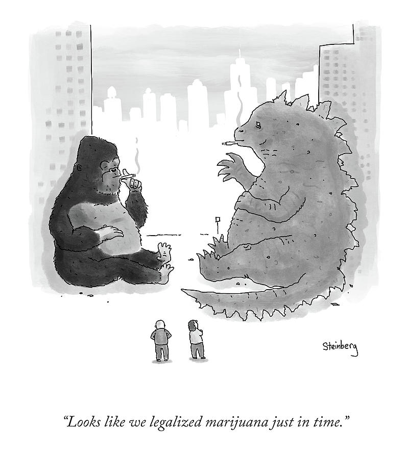 Legalized Marijuana Drawing by Avi Steinberg