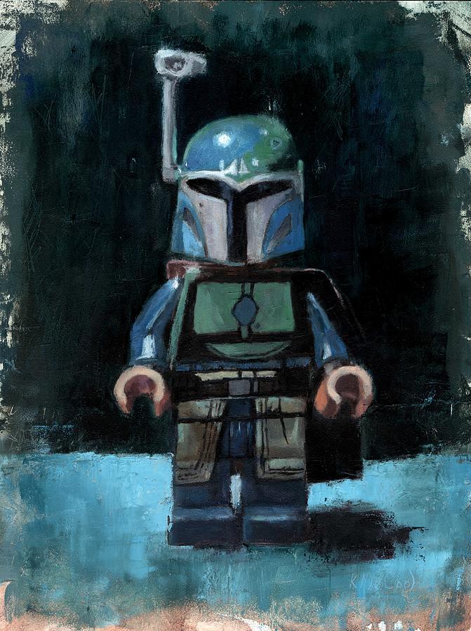Bobafett Painting - Star Wars LEGO Boba Fett by Karen McCool