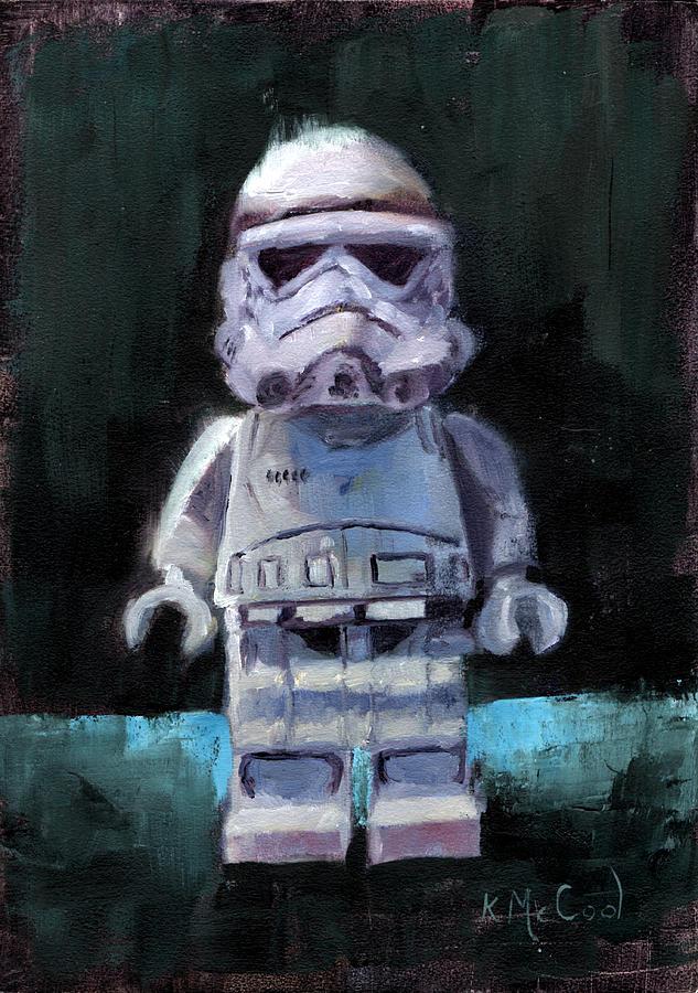 Star Wars Painting - LEGO Star Wars Stormtrooper by Karen McCool