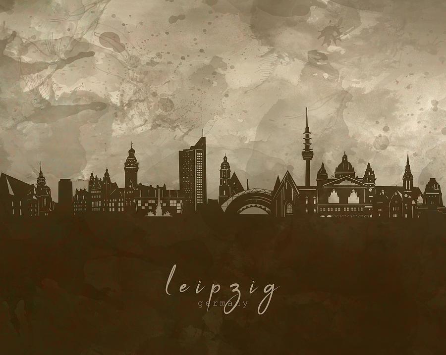 Leipzig Skyline Panorama 4 Digital Art