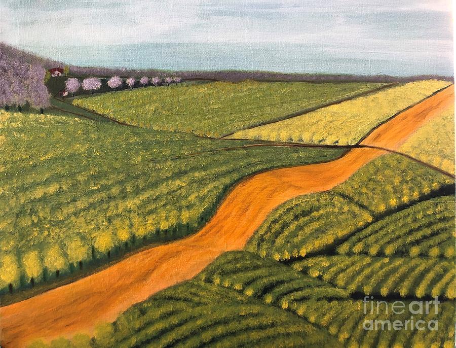 Lemon Grove Road Painting