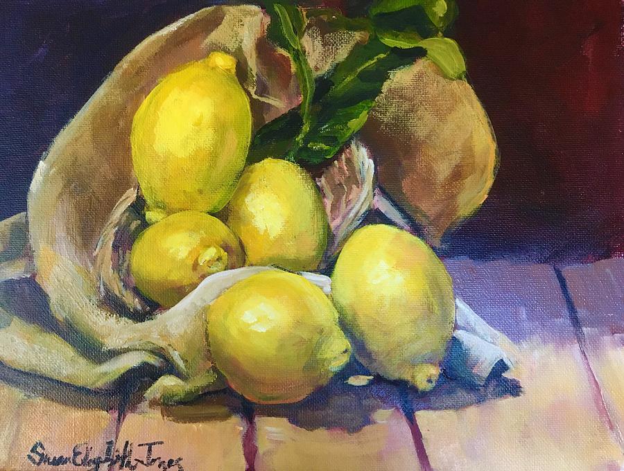 Lemon Still Life Painting
