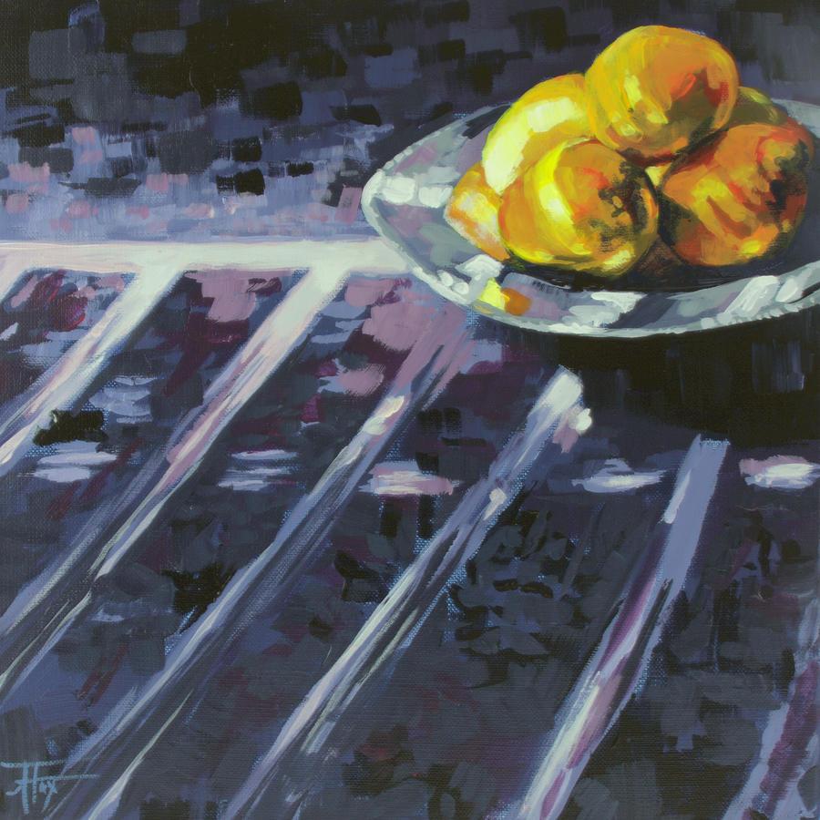Lemon Painting - Lemonade by Allison Fox