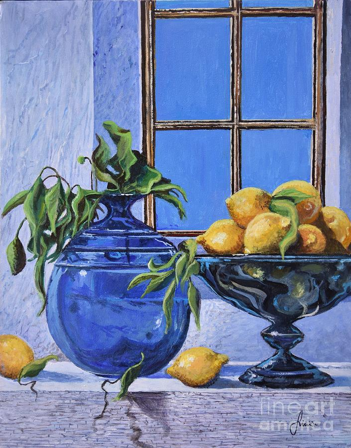 Mediterranean Painting - Lemons by Sinisa Saratlic