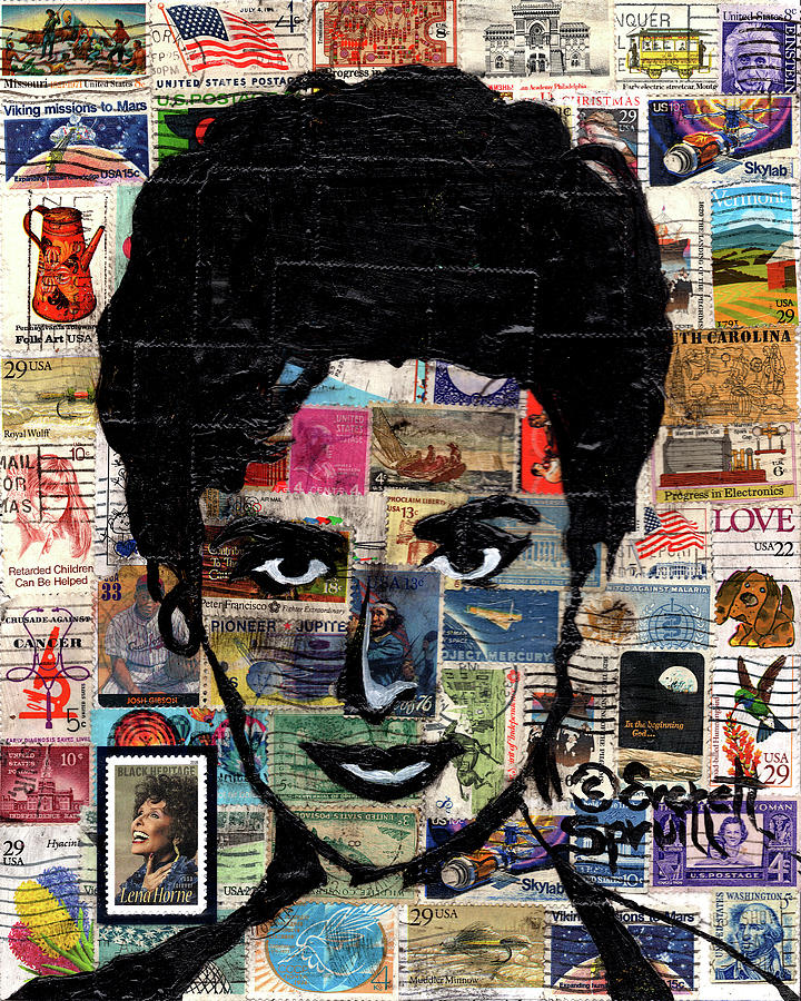 African Mask Mixed Media - Lena Horne by Everett Spruill