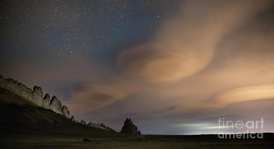Lenticular clouds at Shiprock by Keith Kapple