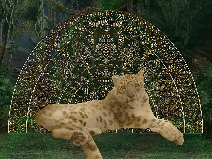 Leopard Digital Art - Leopard Mandala by Mary J Winters-Meyer