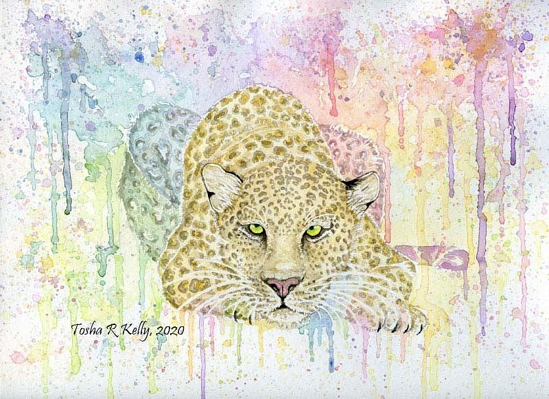 Leopard Painting - LeopardbyToshaKelly by Tosha Kelly