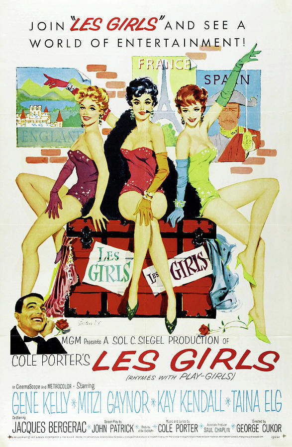 les Girls, With Gene Kelly And Mitzi Gaynor, 1957 Mixed Media