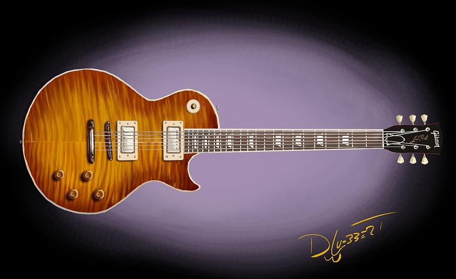 Les Paul Guitar Digital Art