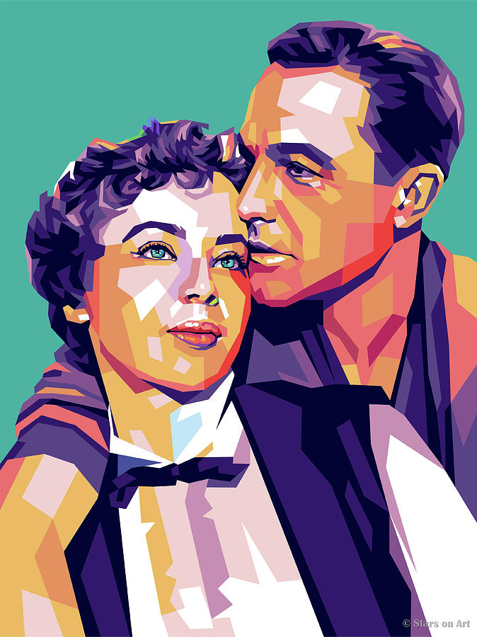 Leslie Caron And Gene Kelly Digital Art