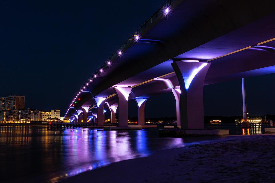 Lesner Bridge At Night Photograph
