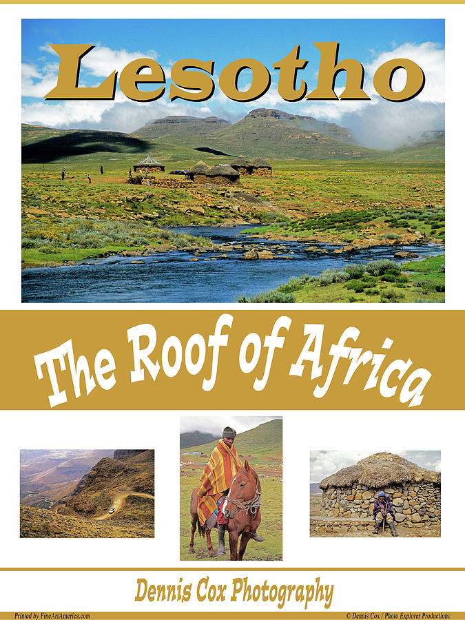 Lesotho Travel Poster Photograph