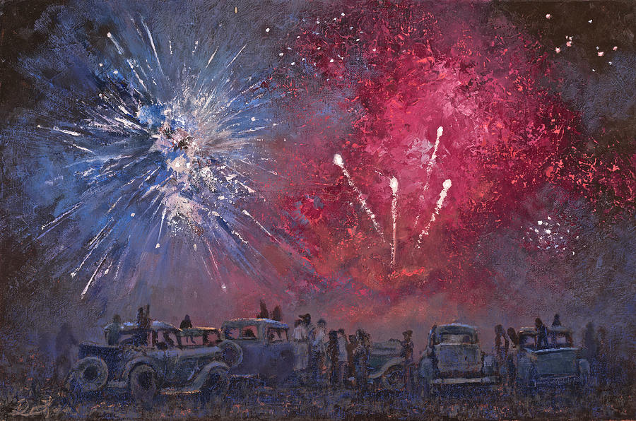 Fireworks Painting - Let Freedom Ring by Mia DeLode