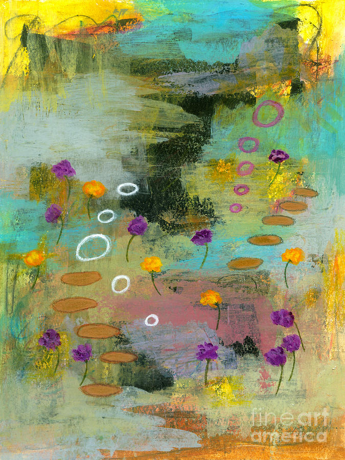 Abstract Landscape Painting - Let it Be 1 Abstract Landscape Flowers Painting by Itaya Lightbourne