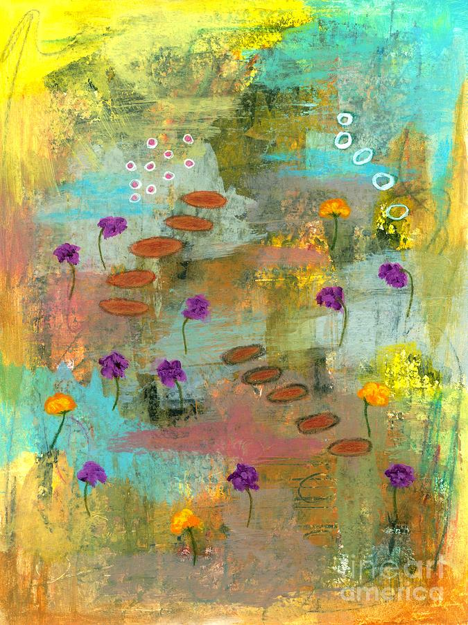 Abstract Landscape Painting - Let it Be 2 Abstract Landscape Painting by Itaya Lightbourne