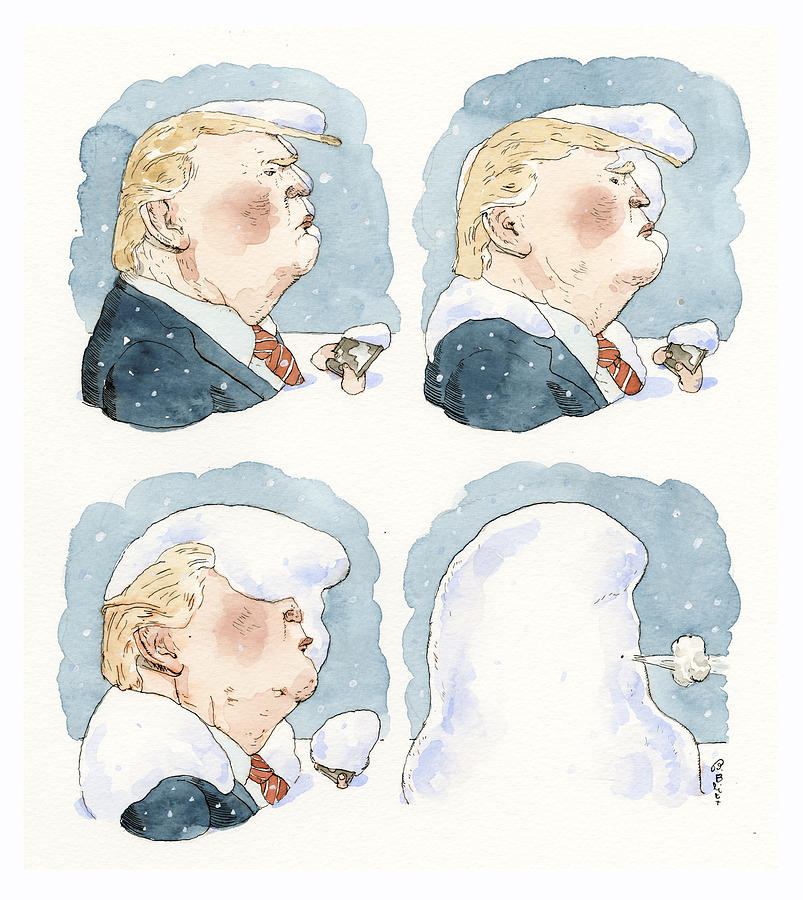 Let It Snow Painting by Barry Blitt