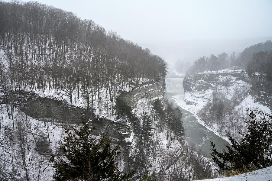 Letchworth Middle Falls - Winter by Mark Papke
