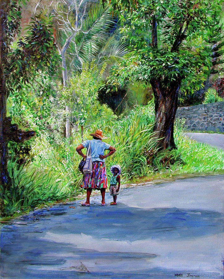 Saint Lucia Painting - Lets Go by Jonathan Gladding
